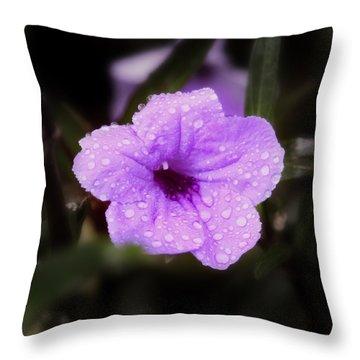 Purple Rain Throw Pillow by Joseph G Holland