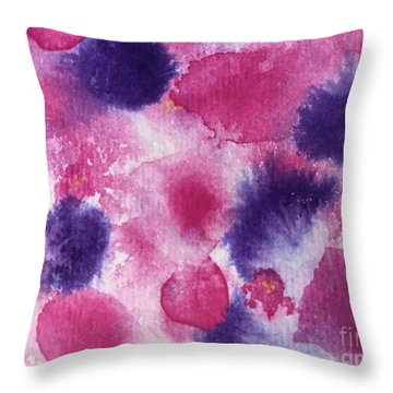 Throw Pillow featuring the painting Purple Rain by Kim Nelson