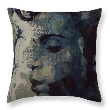 Purple Rain - Prince Throw Pillow by Paul Lovering