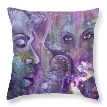 Purple Rain Throw Pillow by Shadia Derbyshire