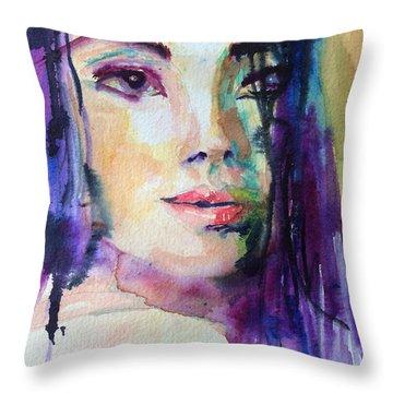 Purple Rain Throw Pillow by Vicki Ross