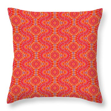 Throw Pillow featuring the painting Purple Red Maze by Kym Nicolas