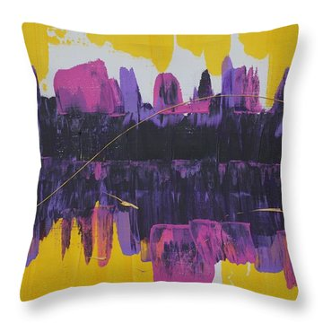 Purple Reflections Throw Pillow