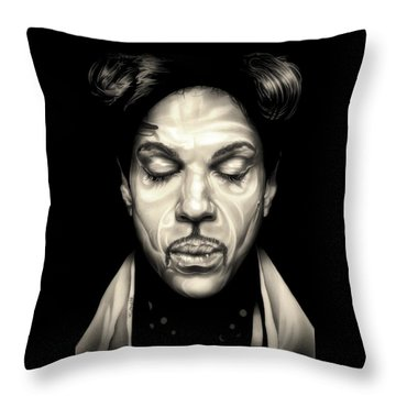 Purple Reign Throw Pillow by Fred Larucci