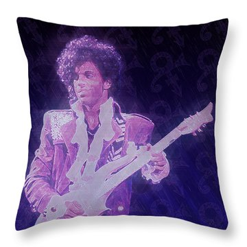 Purple Reign Throw Pillow by Kenneth Armand Johnson
