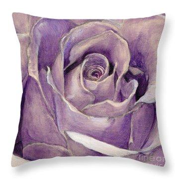 Purple Rose Throw Pillow by Enzie Shahmiri