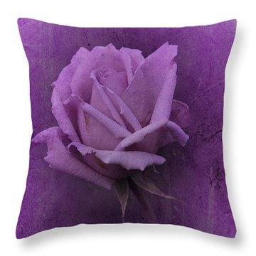 Purple Rose Of November No. 2 Throw Pillow