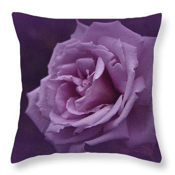 Purple Rose Of November Throw Pillow