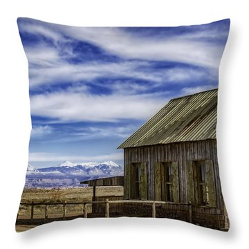Purple Sage Church Throw Pillow