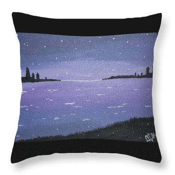 Purple Skies Throw Pillow by Cyrionna The Cyerial Artist