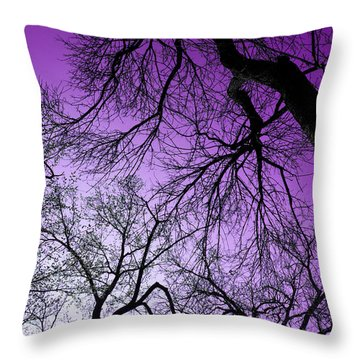 Purple Sky Throw Pillow