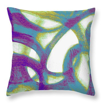 Throw Pillow featuring the mixed media Purple Soul by Lucia Sirna