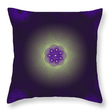 Purple Spirograph Design Throw Pillow