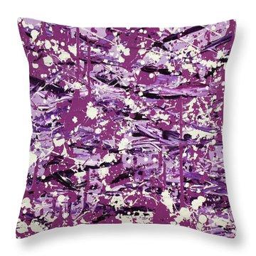 Purple Splatter Throw Pillow