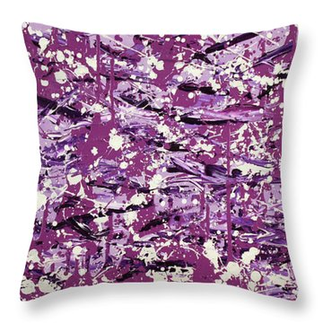 Purple Splatter Throw Pillow