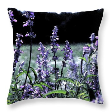 Purple Splendor Throw Pillow