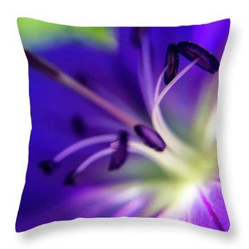 Purple Starburst Throw Pillow