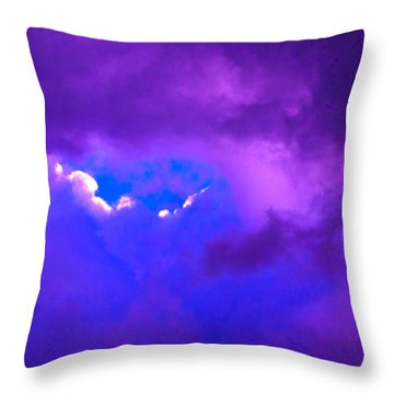 Purple Storm Throw Pillow by Gwyn Newcombe