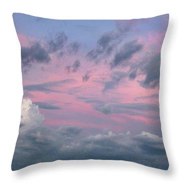 Purple Sunrise Throw Pillow by Tim Fitzharris