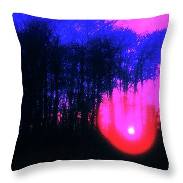 Throw Pillow featuring the photograph Purple Sunset by Craig J Satterlee