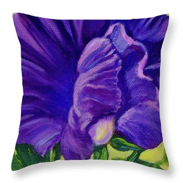 Purple Sweet Pea Throw Pillow