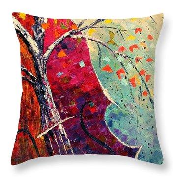 Purple Symphony Throw Pillow