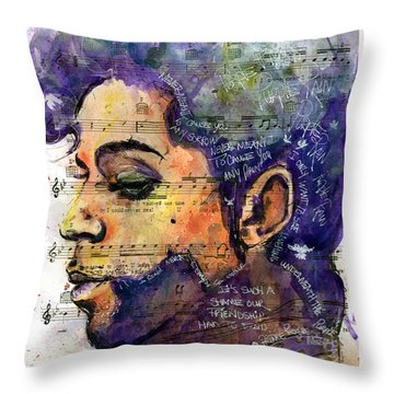 Purple Tears Throw Pillow