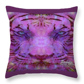 Throw Pillow featuring the photograph Purple Tiger by Barbara Tristan