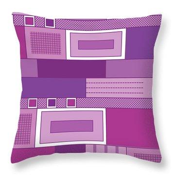 Purple Time Throw Pillow by Tara Hutton