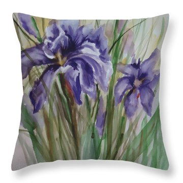 Purple Times 3 Throw Pillow