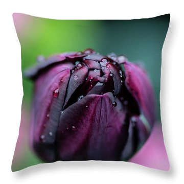 Purple Tulip Throw Pillow