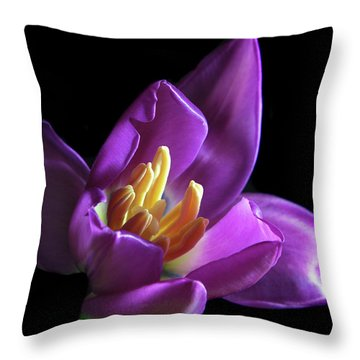 Purple Tulip. Throw Pillow