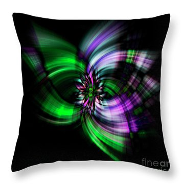 Purple Twirl Throw Pillow