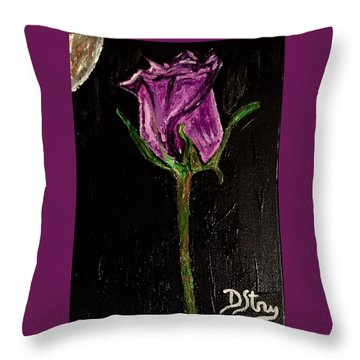 Purple Under The Moon's Glow Throw Pillow