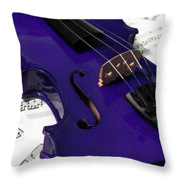 Purple Violin And Music V Throw Pillow