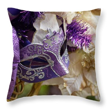 Purple Visions Throw Pillow