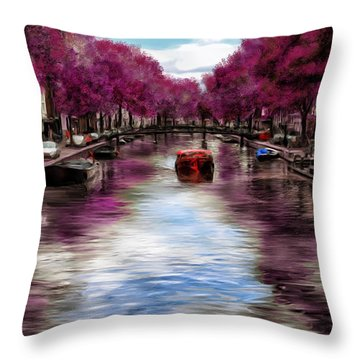 Purple Water Throw Pillow