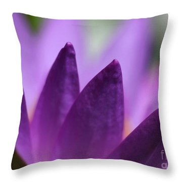 Purple Water Lily Abstract Throw Pillow by Sabrina L Ryan