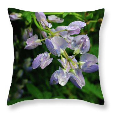 Throw Pillow featuring the photograph Purple Wildflower by Tikvah's Hope