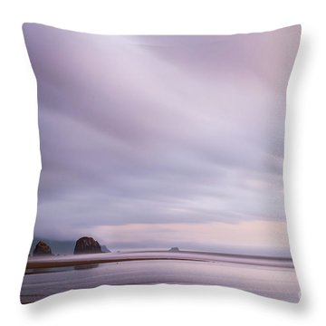 Purple Wisp In The Morning Throw Pillow
