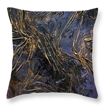 Purple With Texture Throw Pillow