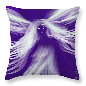 Purple Woods Faerie Throw Pillow