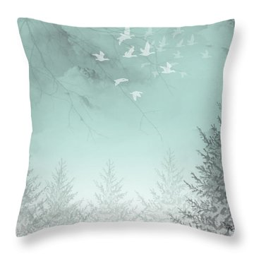 Throw Pillow featuring the painting Purpose Driven by Trilby Cole