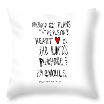 Throw Pillow featuring the drawing Purpose by Nancy Ingersoll