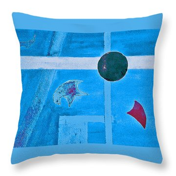 Purposphere Gone Blue Throw Pillow
