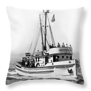 Purse Seiner Western Flyer On Her Sea Trials Washington 1937 Throw Pillow
