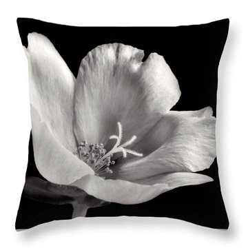 Throw Pillow featuring the photograph Purslane In Monochrome by David and Carol Kelly