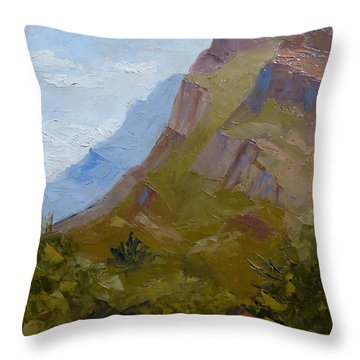Pusch Ridge I Throw Pillow by Susan Woodward