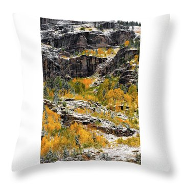 Push Starting Winter Throw Pillow