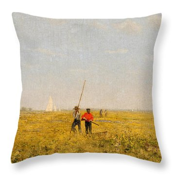 Pushing For Rail, 1874 Throw Pillow